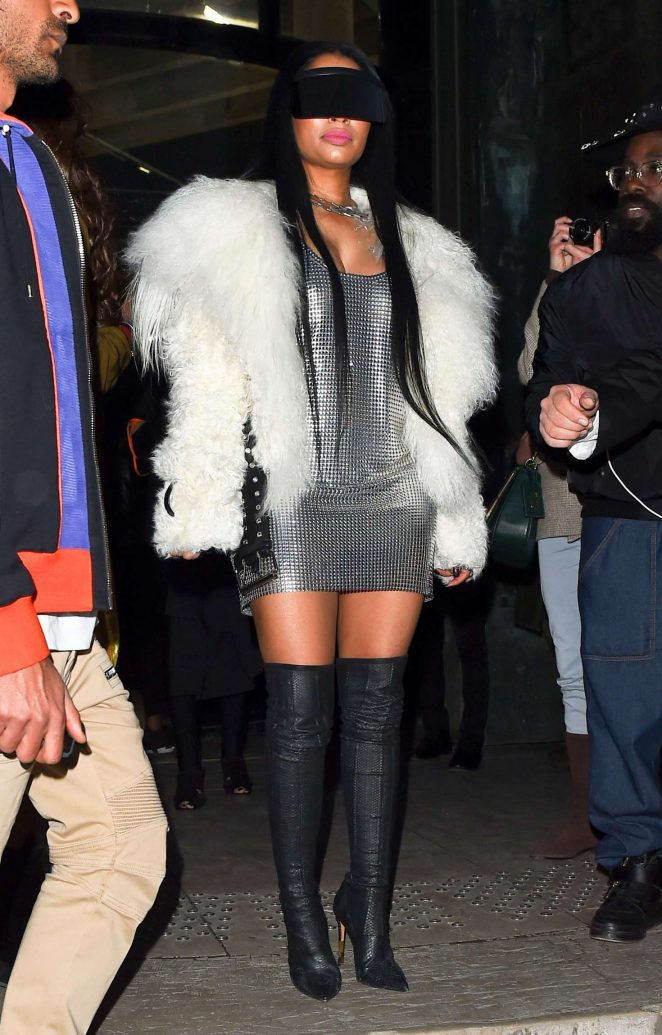 Nikki Minaj at Rick Owen Fashion Show in Paris
