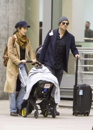 Nikki Reed and Ian Somerhalder - Arriving in Toronto