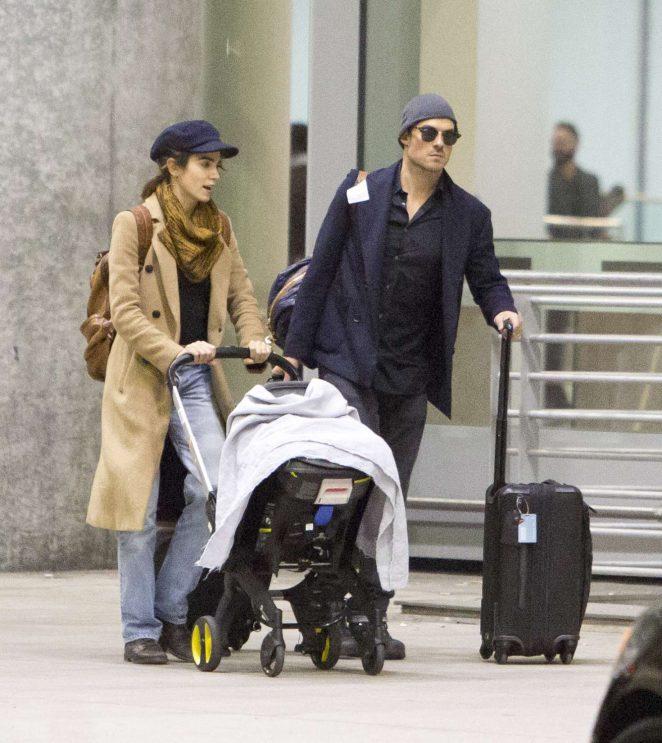 Nikki Reed and Ian Somerhalder - Arriving in Toronto