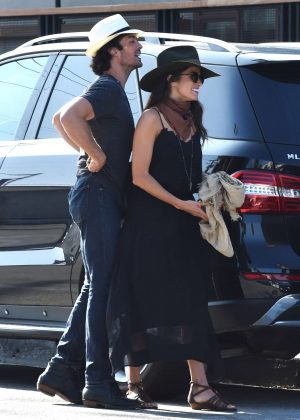 Nikki Reed and  Ian Somerhalder at Gracias Madre in West Hollywood