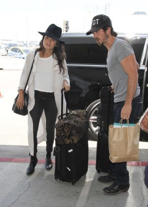 Nikki Reed and Ian Somerhalder at LAX in Los Angeles