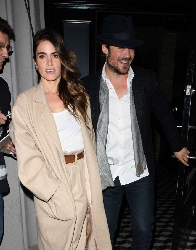 Nikki Reed and Ian Somerhalder - Leaves Craig's Restaurant in West Hollywood