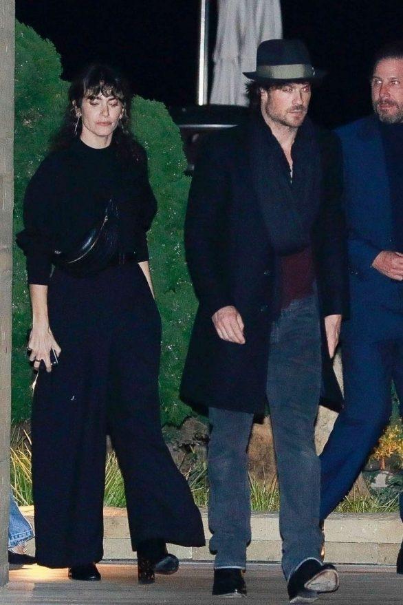 Nikki Reed and Ian Somerhalder - Leaving a dinner in Malibu
