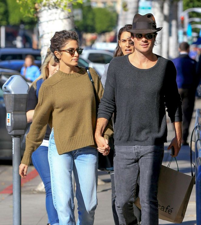 Nikki Reed and Ian Somerhalder Out in Beverly Hills