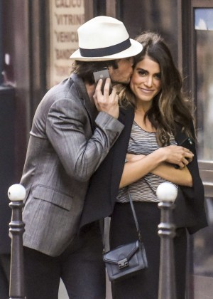 Nikki Reed and Ian Somerhalder Out in Paris