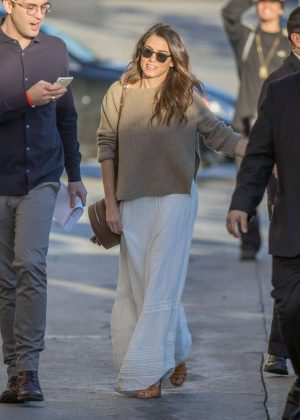 Nikki Reed - Arriving at Jimmy Kimmel Live! in LA