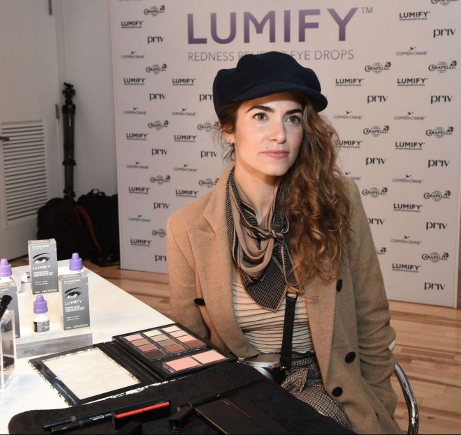Nikki Reed – Beauty Bar featuring LUMIFY Redness Reliever Eye Drops in NY