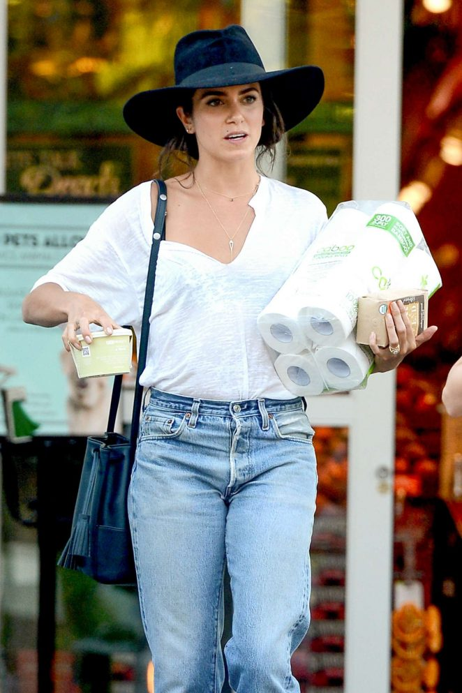 Nikki Reed in Jeans at Bristol Farms in West Hollywood