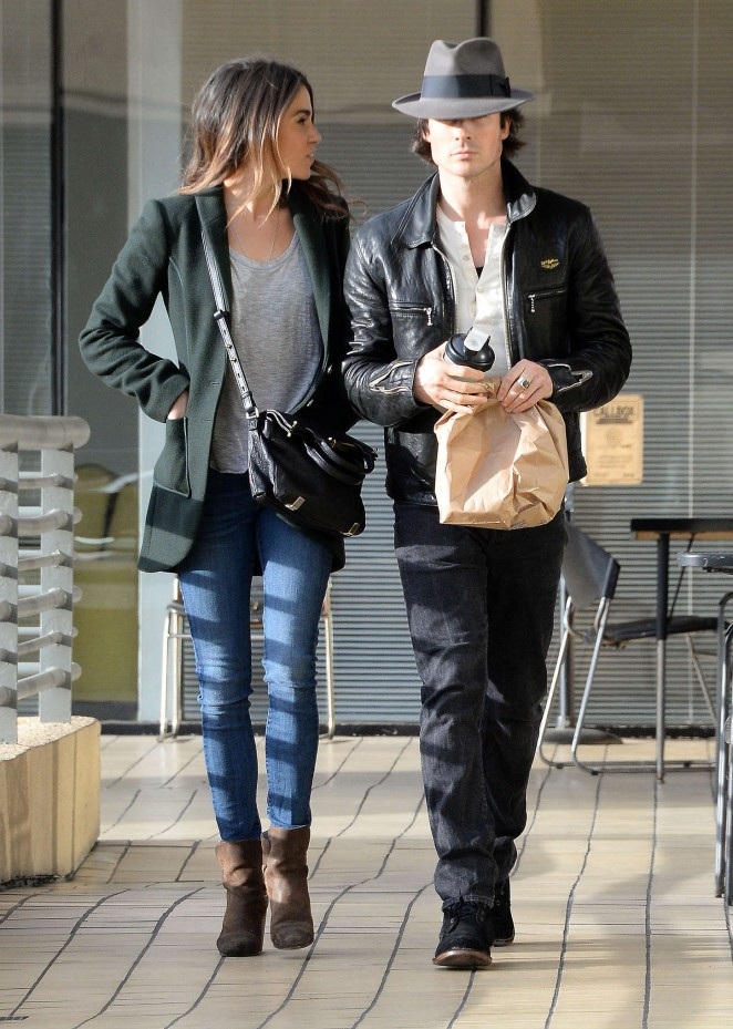 Nikki Reed with Ian Somerhalder in Jeans Out in Studio City