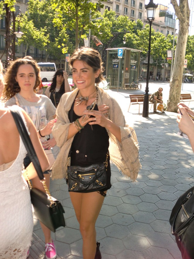 Nikki Reed - Out and about in Barcelona