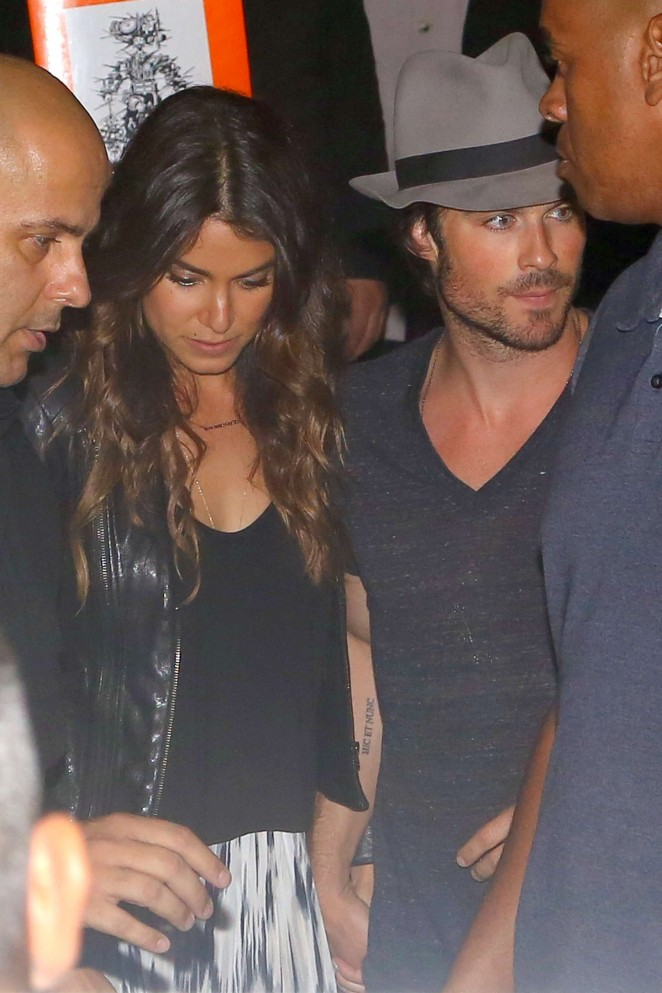 Nikki Reed - Out for dinner in Brazil