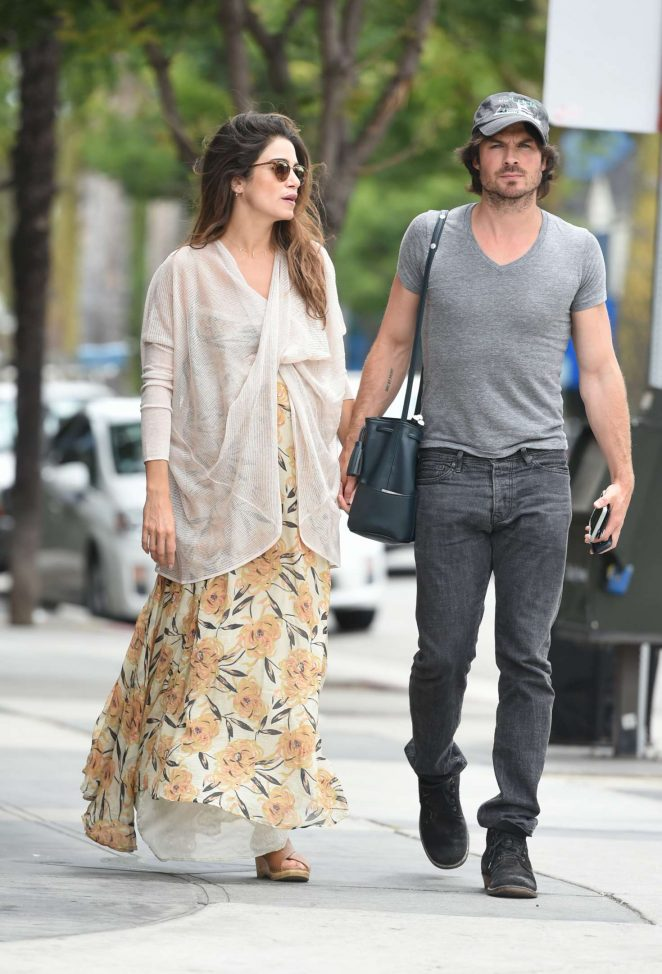 Nikki Reed with Ian Somerhalder out in Los Angeles