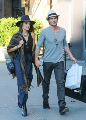 Nikki Reed with Ian Somerhalder out in NYC
