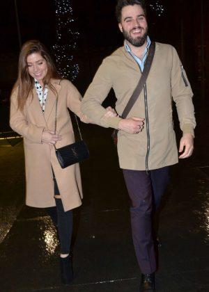 Nikki Sanderson and Boyfriend Greg at Australasia Restaurant in Manchester