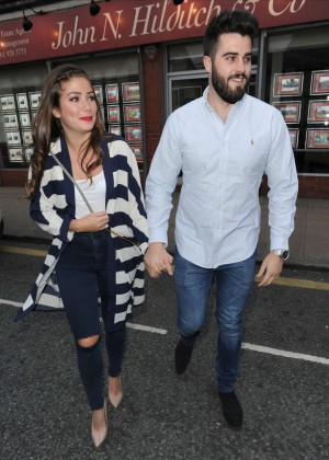 Nikki Sanderson With her boyfriebnd out in Manchester