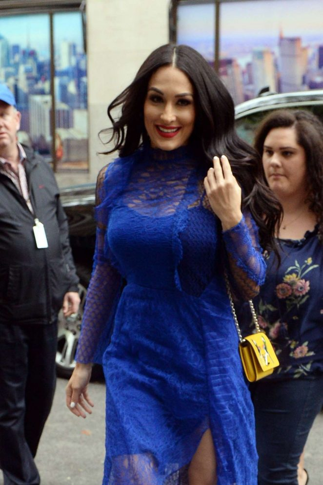 Nikki with Brie Bella – Seen at NBS Studios In New York