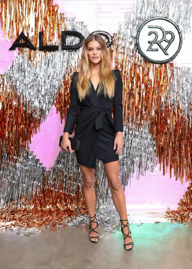 Nina Agdal – Aldo x Refinery 29 Holiday Dinner in NYC