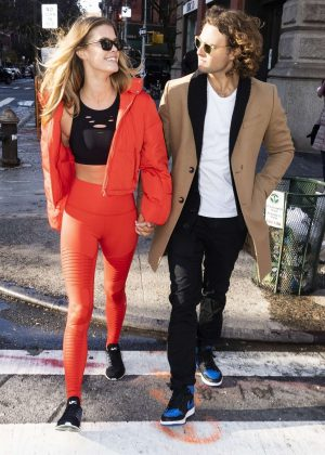 Nina Agdal and boyfriend Jack Brinkley-Cook - Out in New York