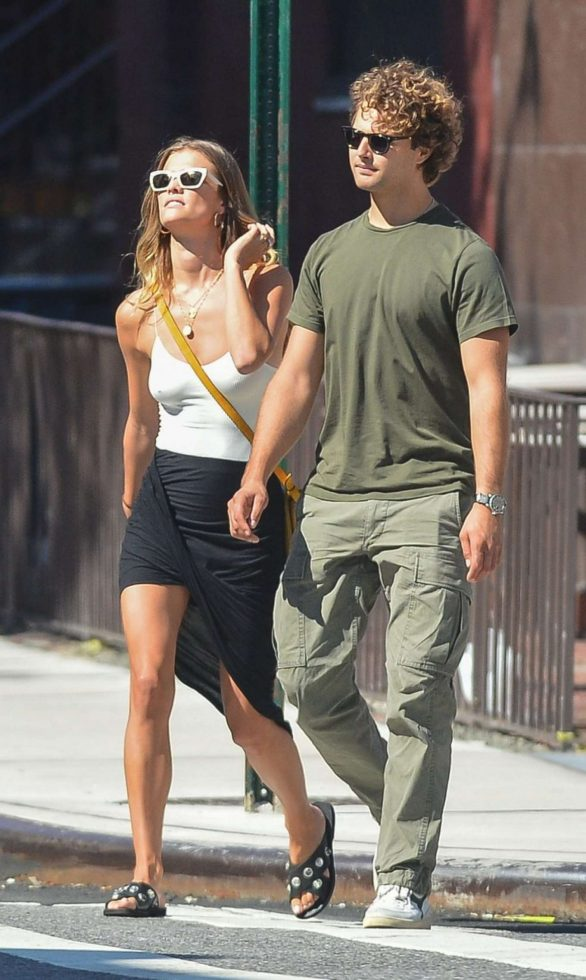 Nina Agdal and Jack Brinkley at a lunch in New York City
