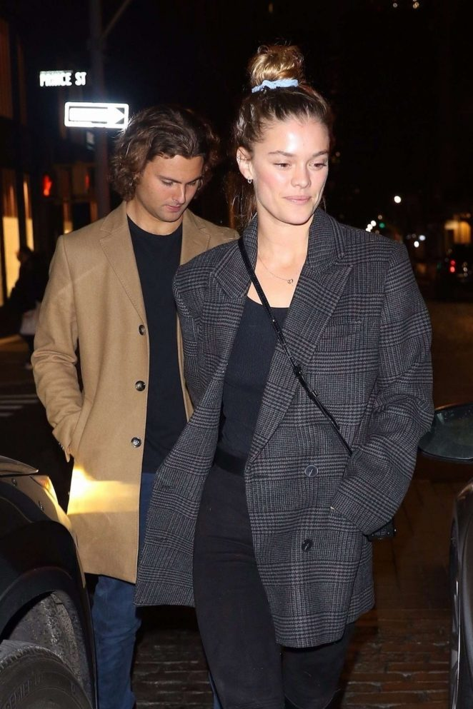 Nina Agdal and Jack Brinkley-Cook - Night out at Lure in NYC