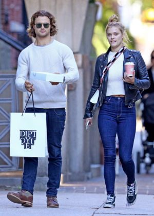 Nina Agdal and Jack Brinkley-Cook Shopping in NYC