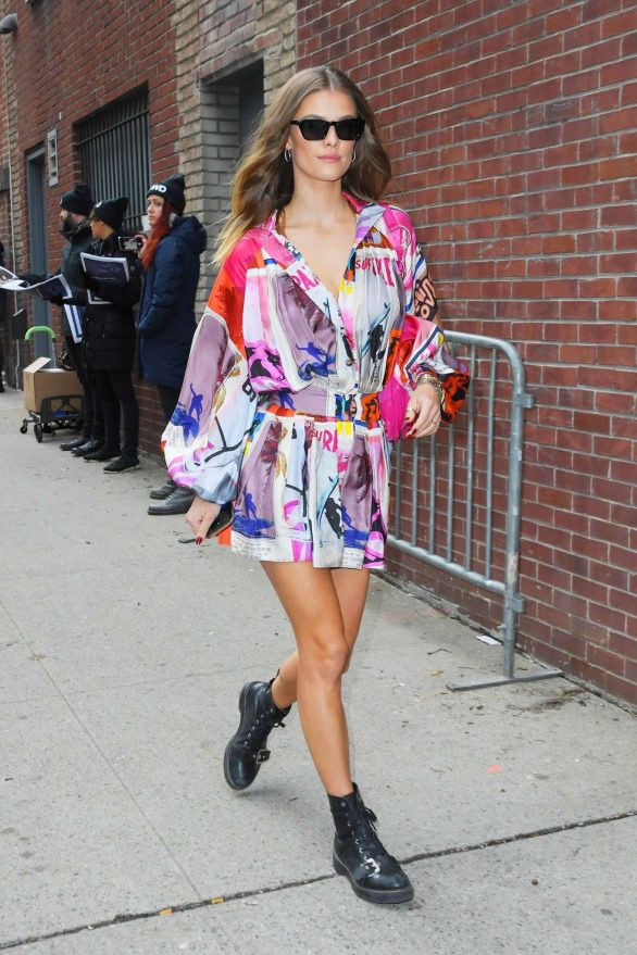 Nina Agdal - Arrives at the Zimmerman Show in New York