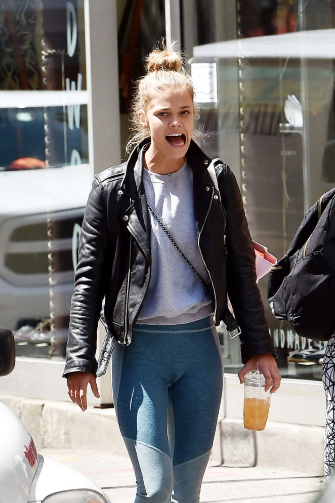 Nina Agdal at Parm Mulberry Street Restaurant in Soho