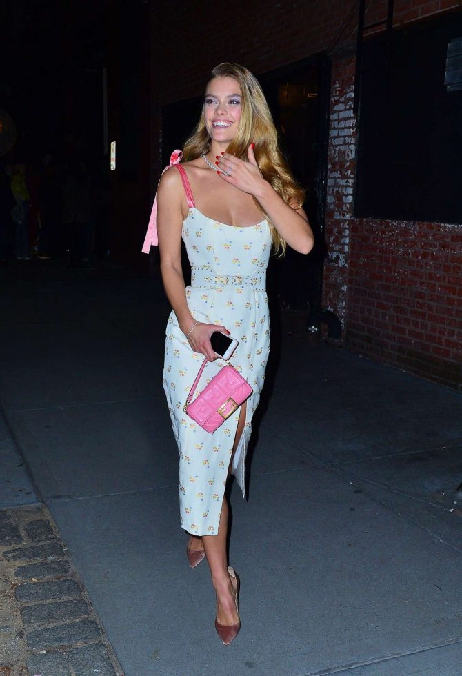 Nina Agdal: Attend the Tiffany & Co party -05