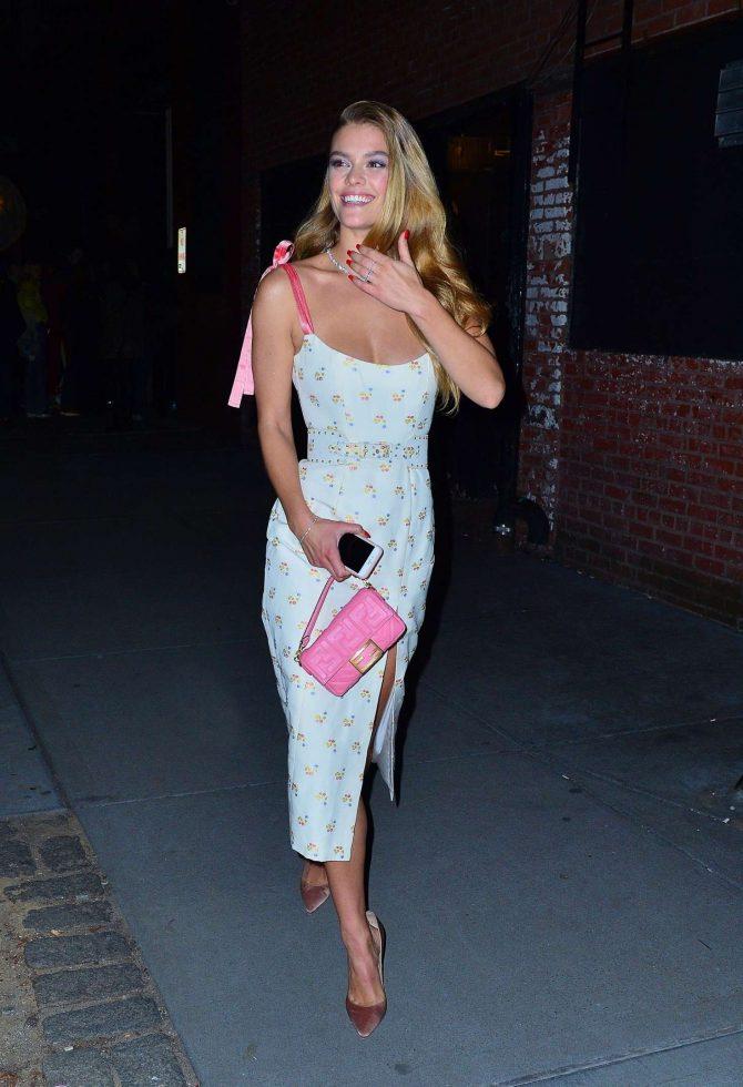 Nina Agdal 2019 : Nina Agdal: Attend the Tiffany & Co party -05