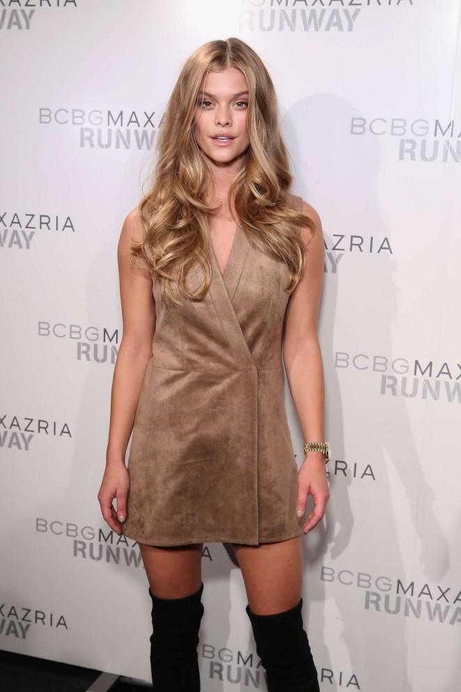Nina Agdal - BCBGMAXAZRIA Fall 2016 Fashion Show in NYC
