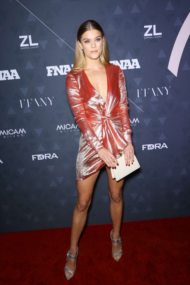 Nina Agdal – Footwear News Achievement Awards in NYC