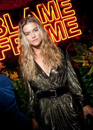 Nina Agdal - Frame's Blame Jordan Dinner - 2018 NYFW in New York