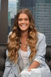 Nina Agdal - 'Good Day New York' Fox 5 to promote Pura Still Spiked Water