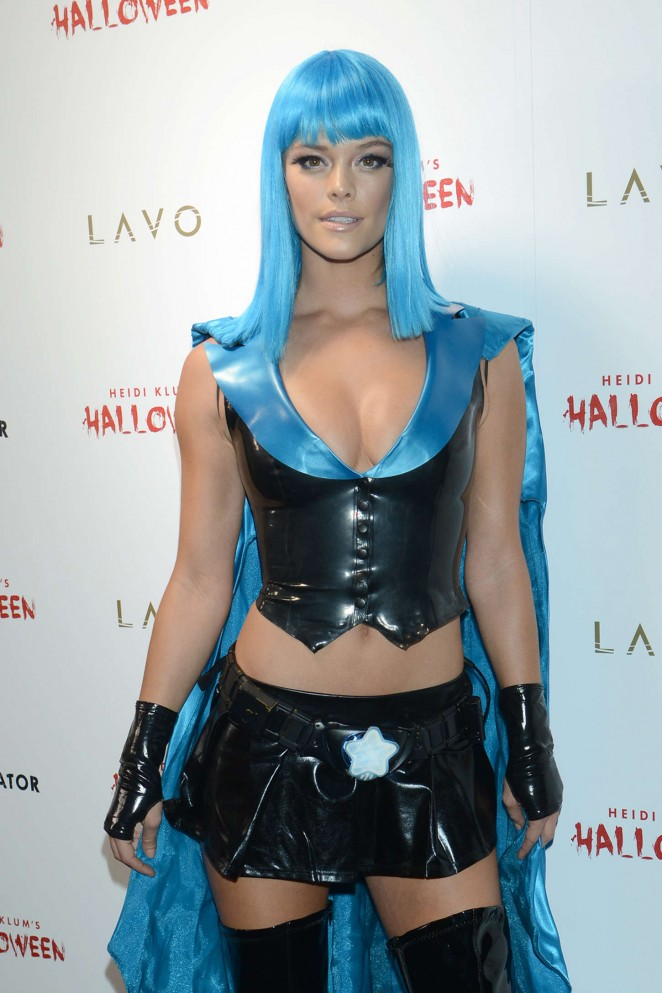 Nina Agdal - Heidi Klum Halloween Party 2015 in NY