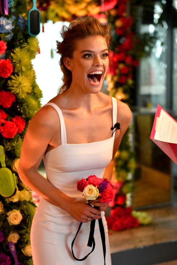 Nina Agdal - Knot-A-Real-Wedding for Conair's The Knot Dr. Detangling Brush in NYC