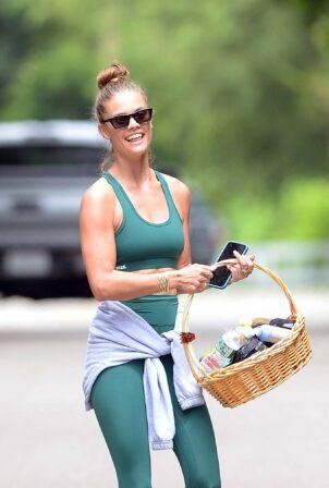 Nina Agdal - Leaving a Yoga Class in Amsgansett Hamptons - New York