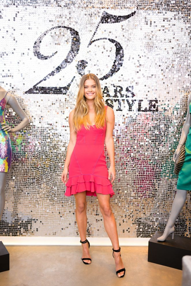 Nina Agdal - Looking hot at Intermix 25th Anniversary Party in New York