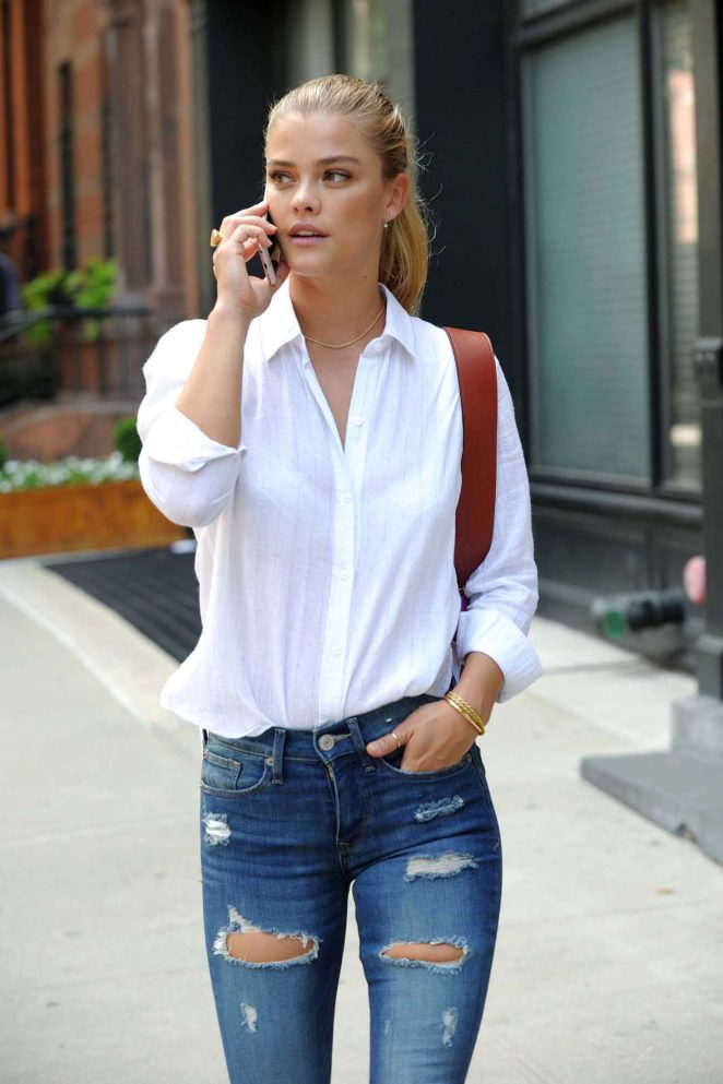 Nina Agdal out in New York City