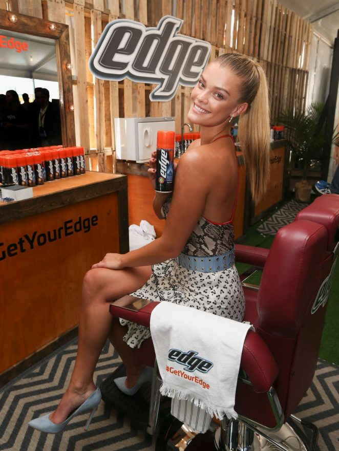 Nina Agdal - Partners with Edge Shave Gel at SI Swimsuit Issue SI VIBES Festival in Houston