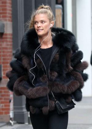 Nina Agdal - Shopping out in Manhattan