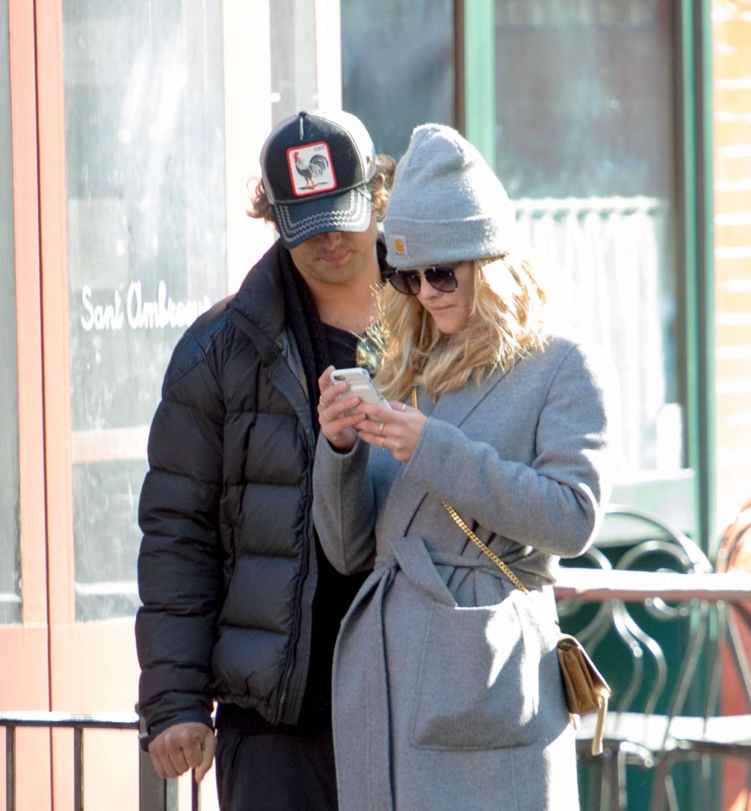 Nina Agdal 2018 : Nina Agdal: Shopping with boyfriend Jack Brinkley-Cook -09