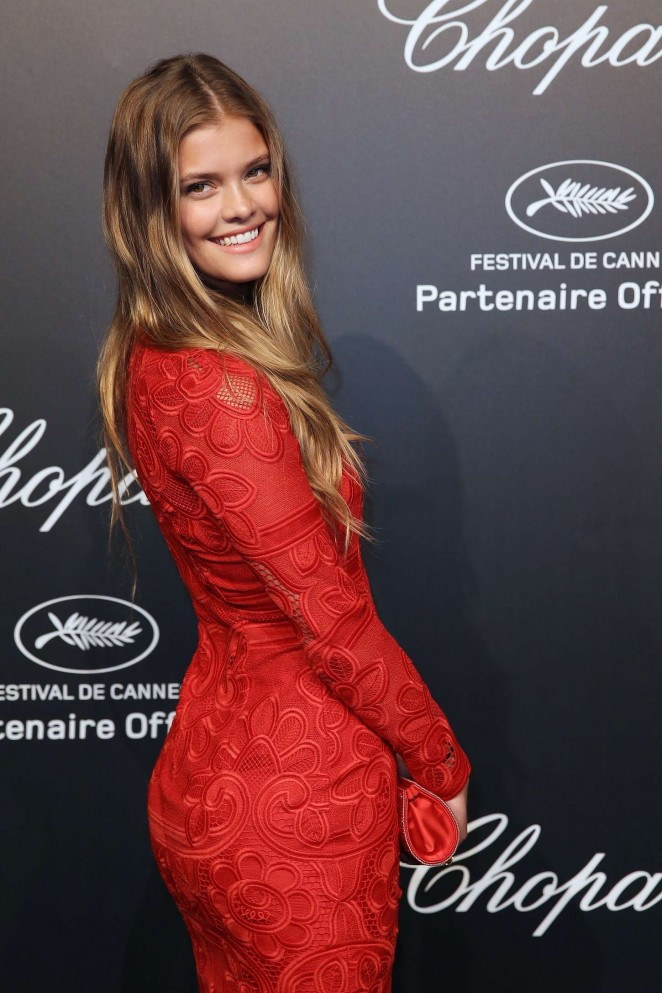 Nina Agdal - Soiree Chopard 'Gold Party' in Cannes