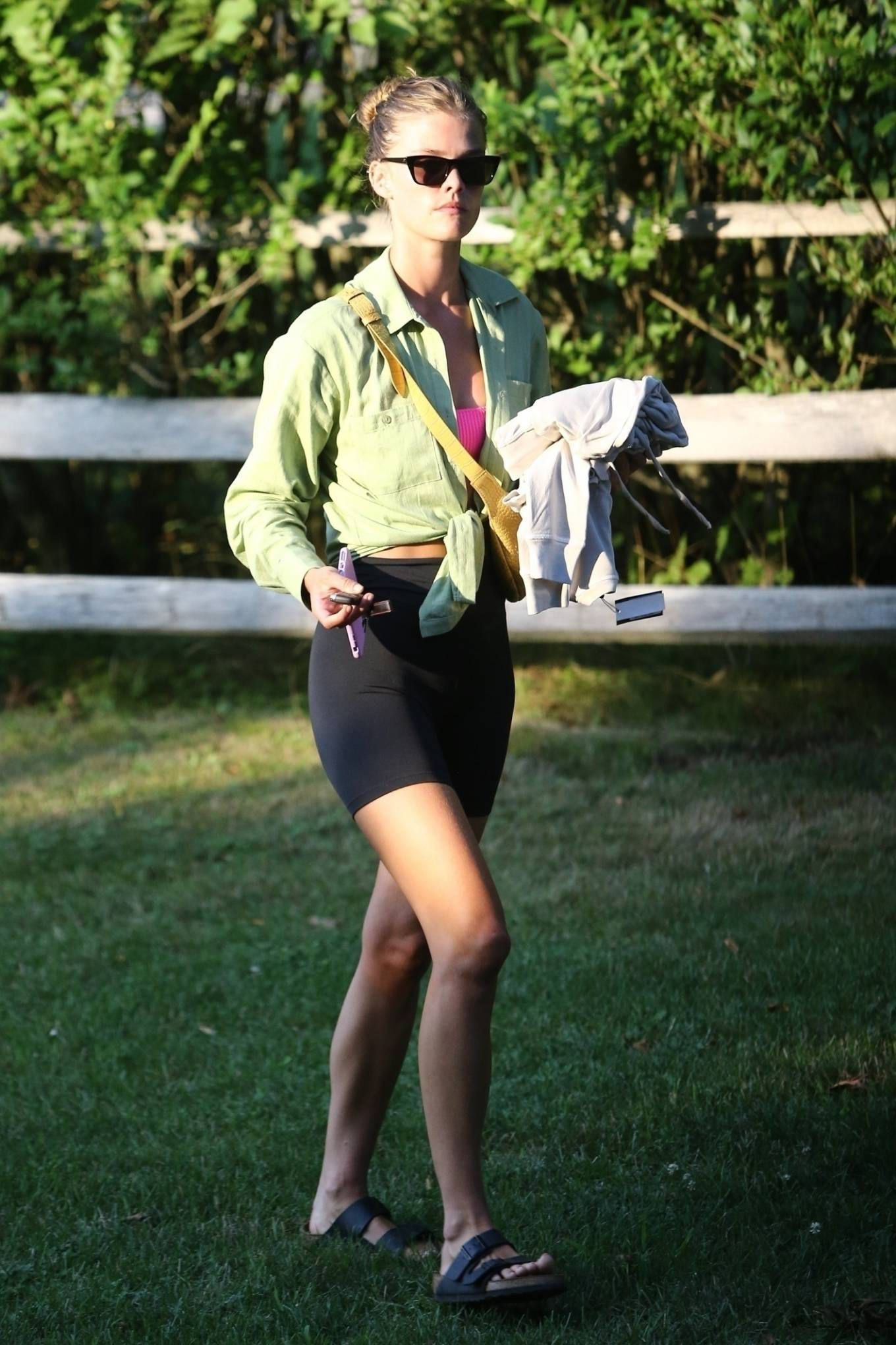 Nina Agdal 2020 : Nina Agdal – Spotted at a friends house in the Hamptons-01