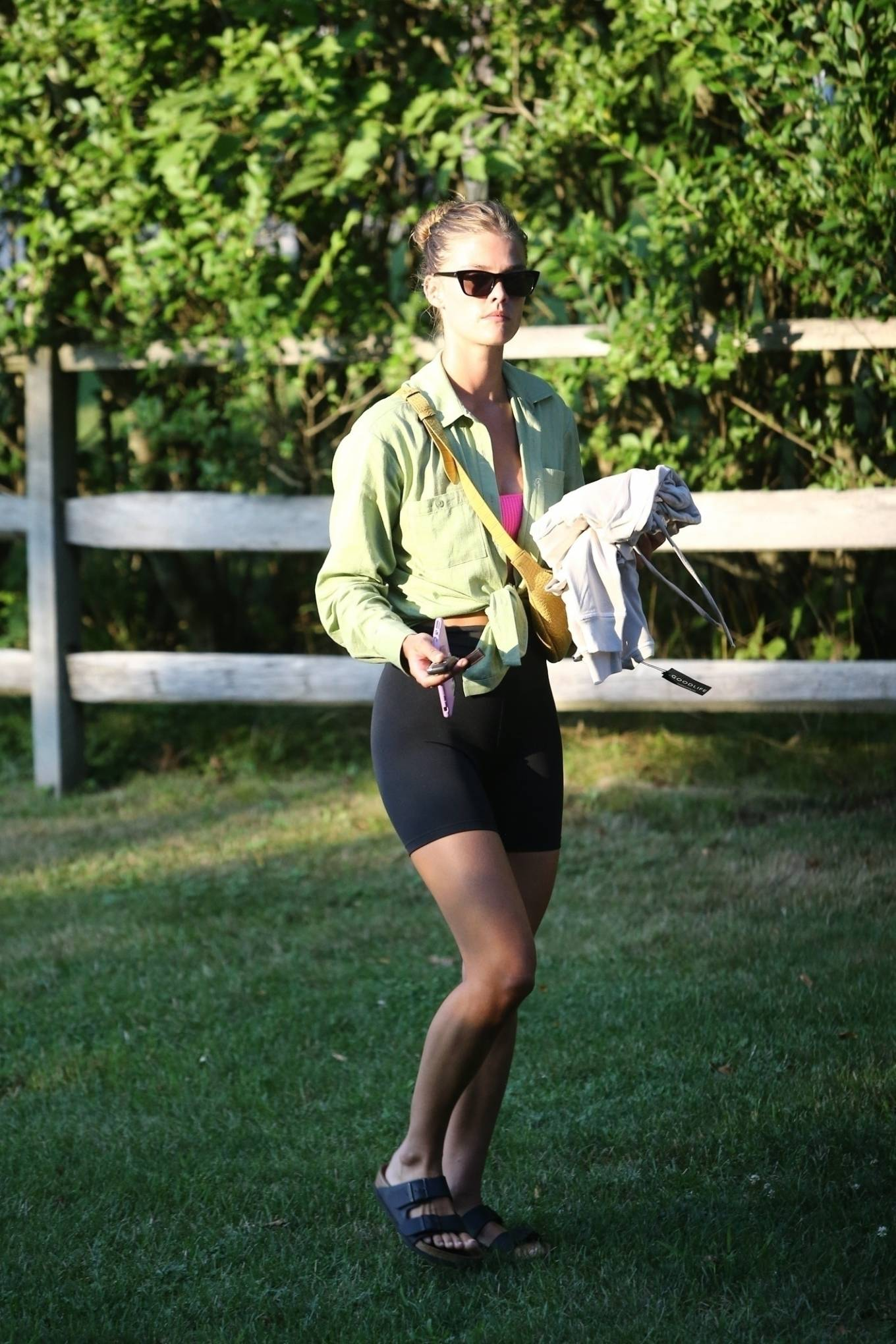 Nina Agdal 2020 : Nina Agdal – Spotted at a friends house in the Hamptons-06