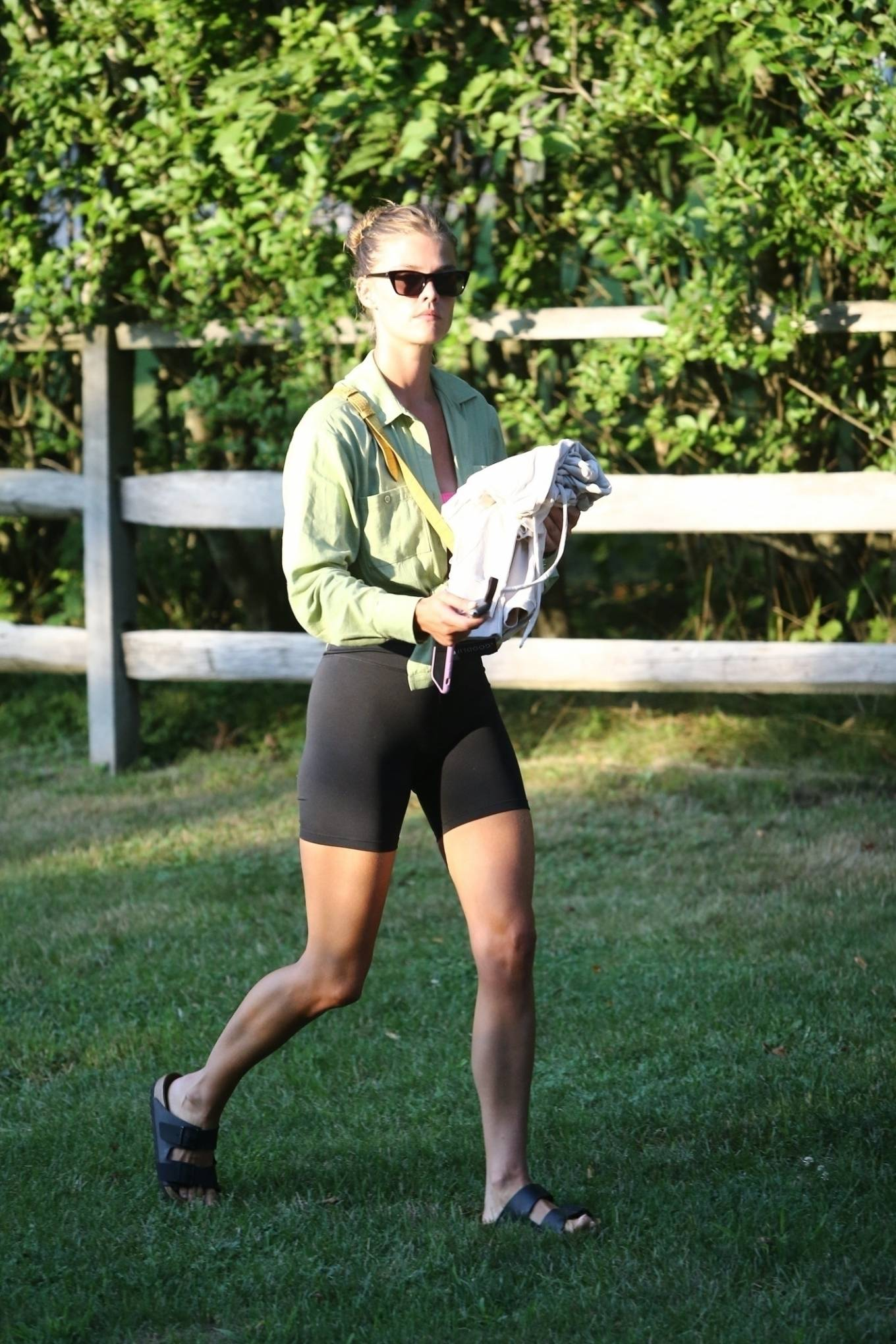 Nina Agdal 2020 : Nina Agdal – Spotted at a friends house in the Hamptons-09