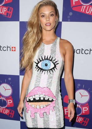 Nina Agdal - The Swatch: A Night of Pop and Store Opening in NYC