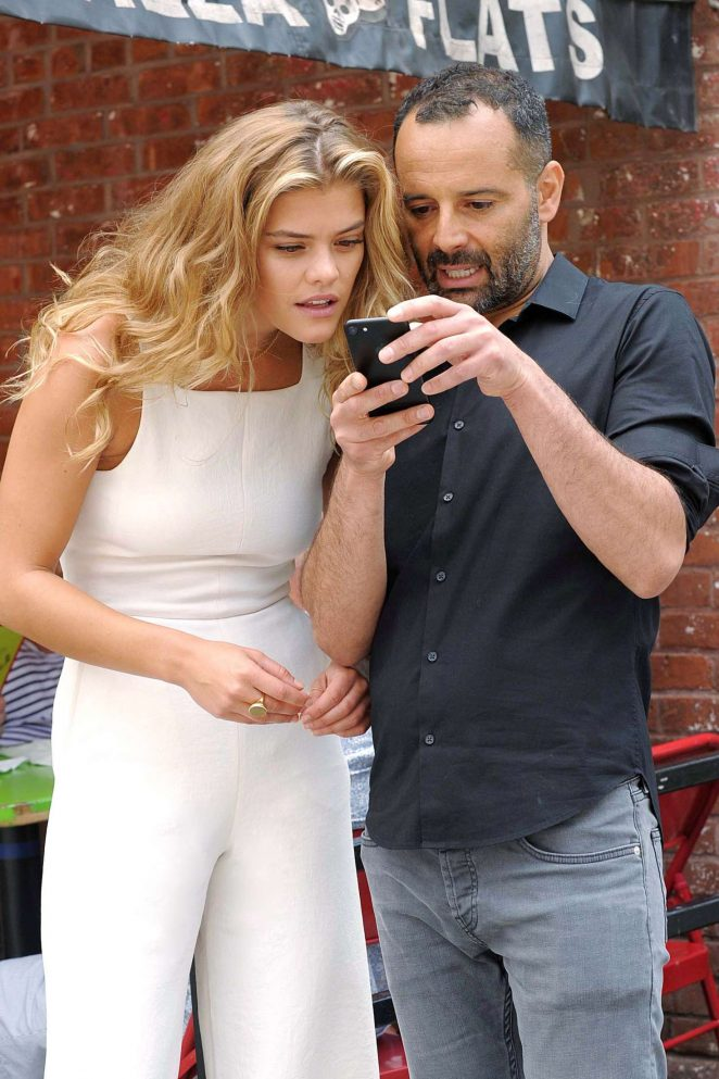 Nina Agdal with Start-Up Founder Tarik Sansal to preview new Romio App in NYC