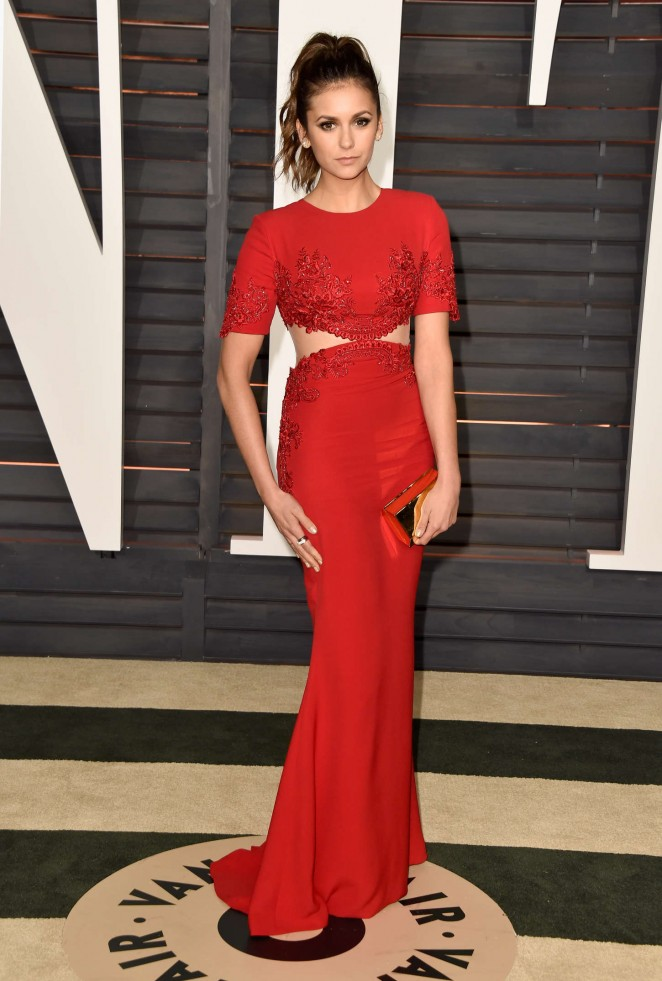 Nina Dobrev - 2015 Vanity Fair Oscar Party in Hollywood