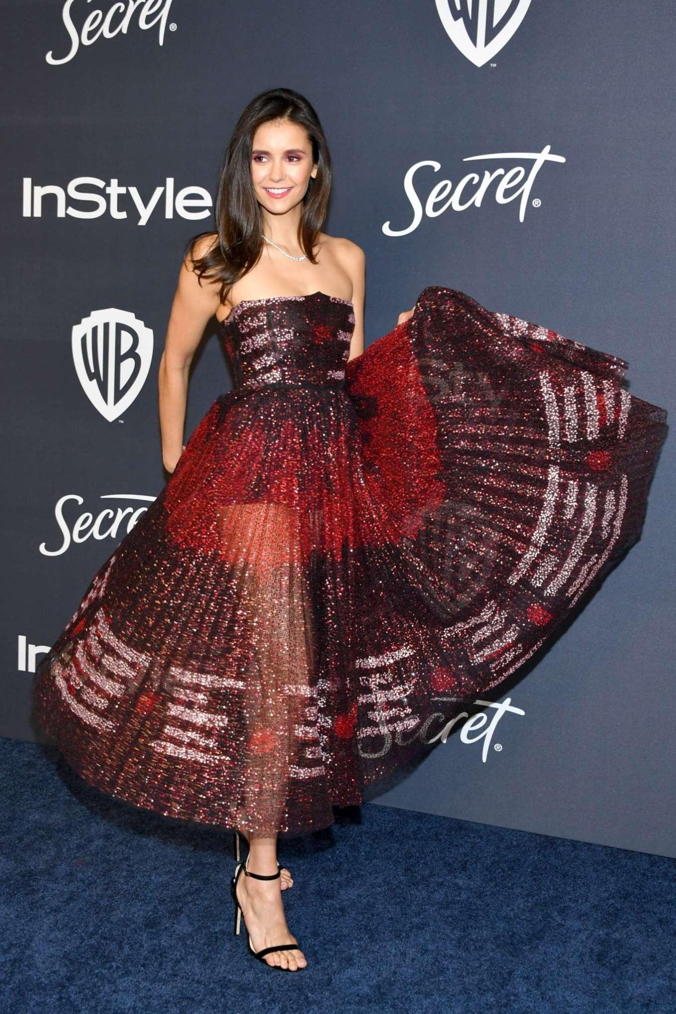 Nina Dobrev - 2020 InStyle and Warner Bros Golden Globes Party in Beverly Hills