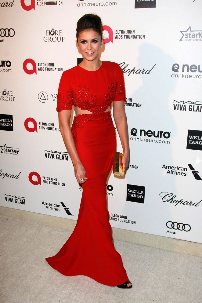 Nina Dobrev - Oscars 2015 - Elton John AIDS Foundation Academy Awards Party